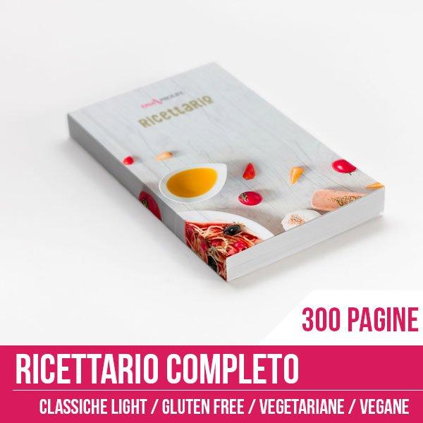 Ricettario completo di 300 pagine per ricette sempre nuove tutti i giorni!